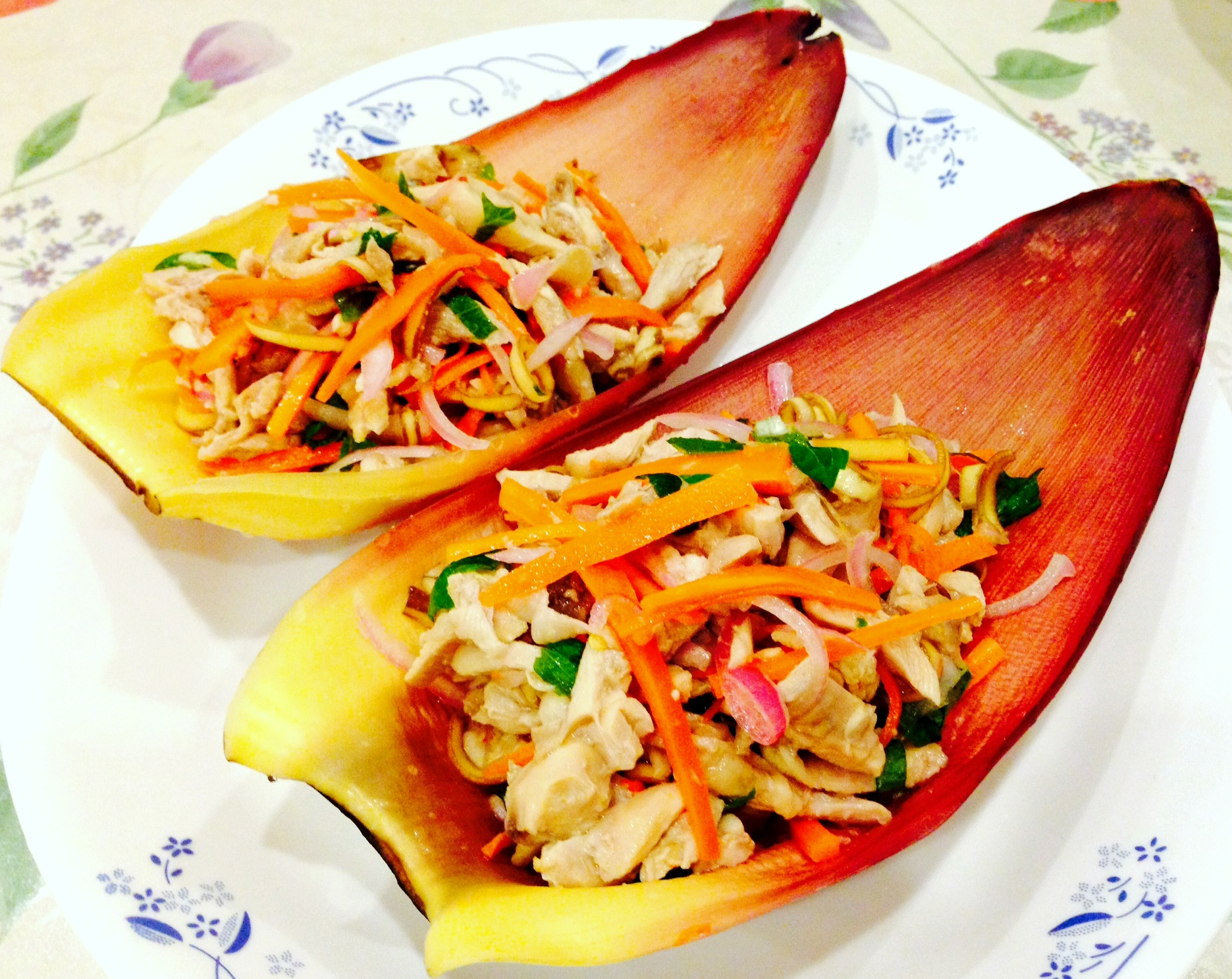 Vietnamese Chicken & Banana Flower Salad