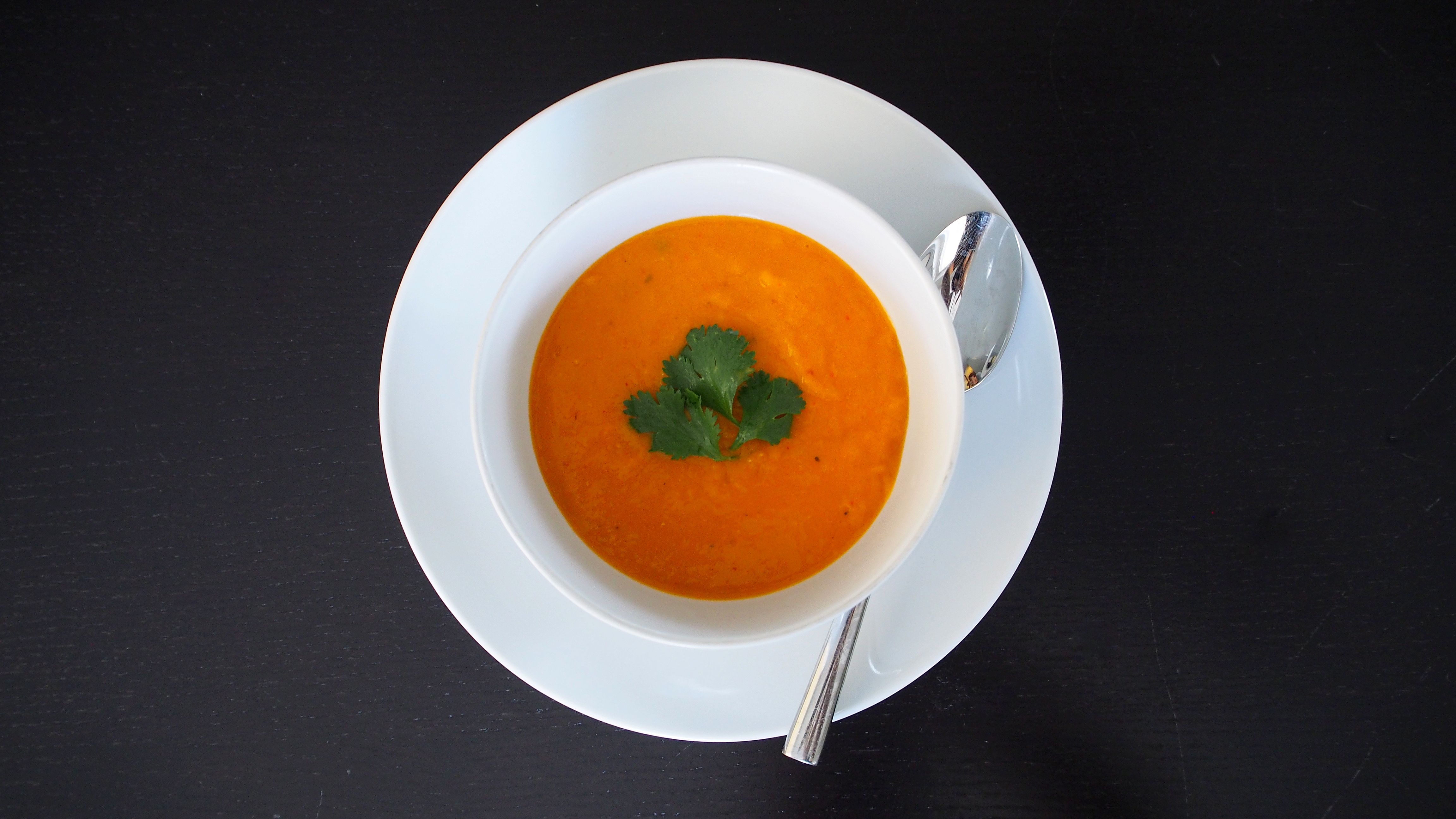 Roasted Butternut Squash Thai Curry Soup