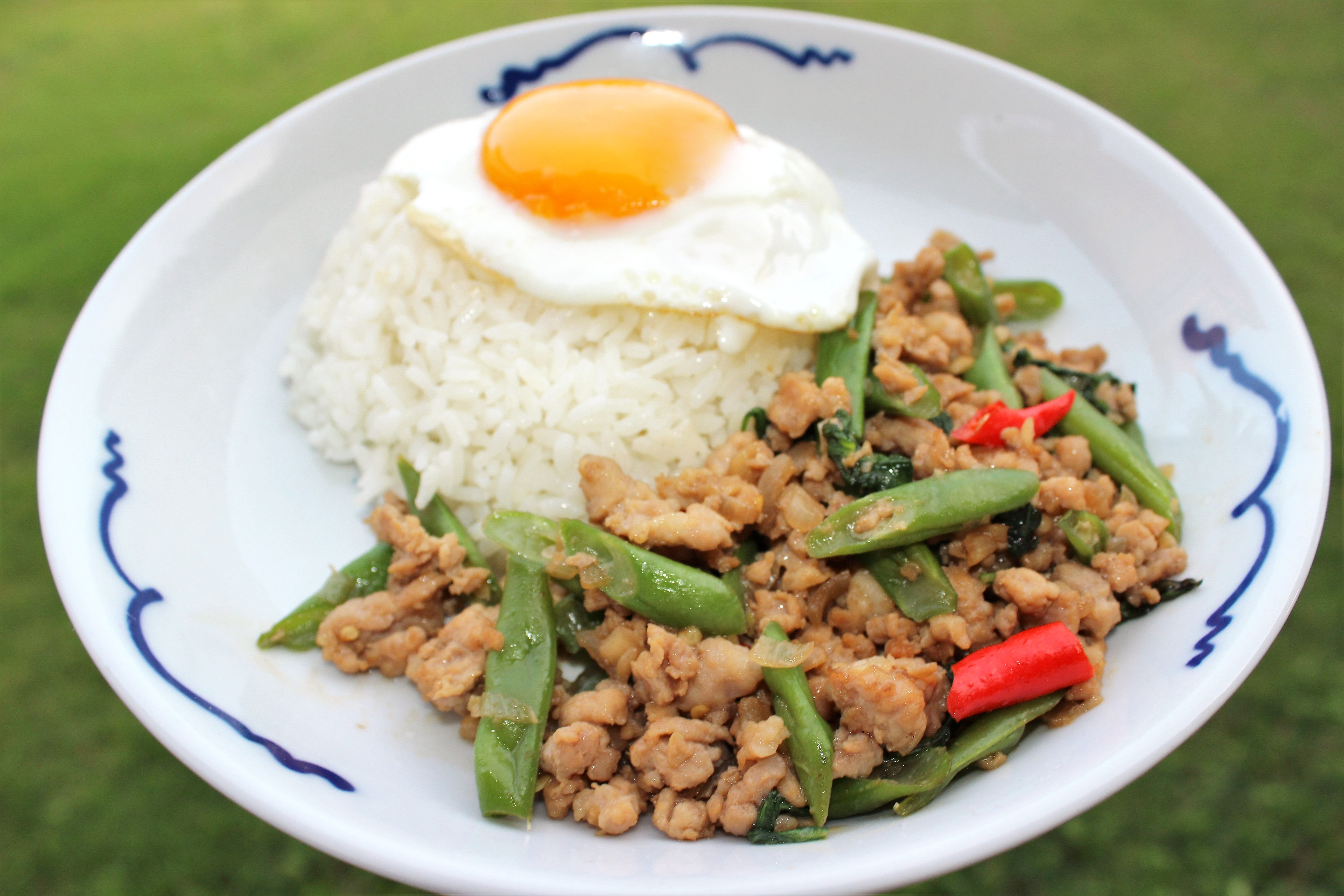 Spicy Thai Pork with Basil & Green Beans