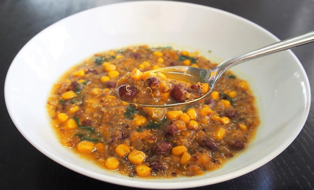 quinoa enchilada soup