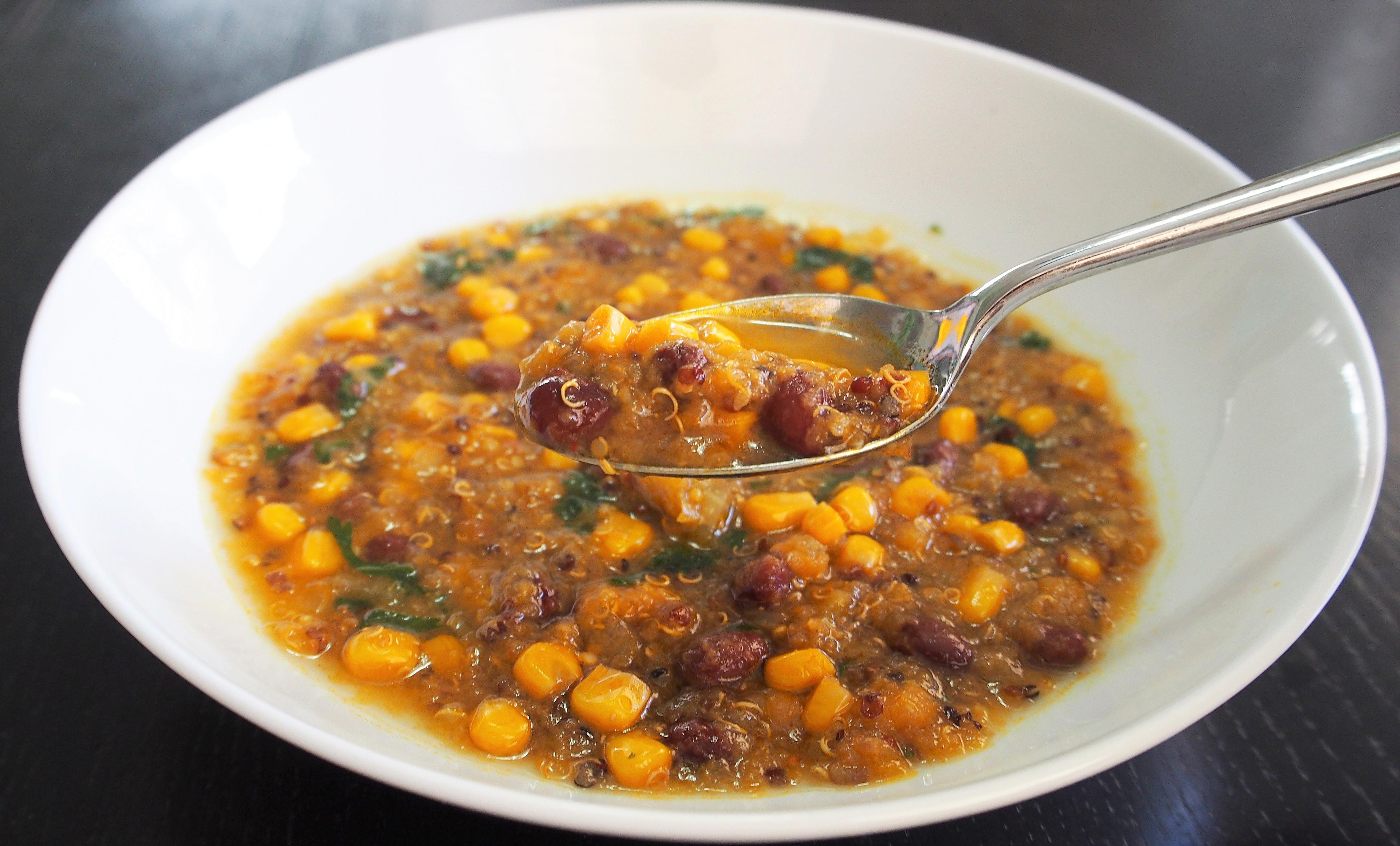 Vegetarian Quinoa Enchilada Soup