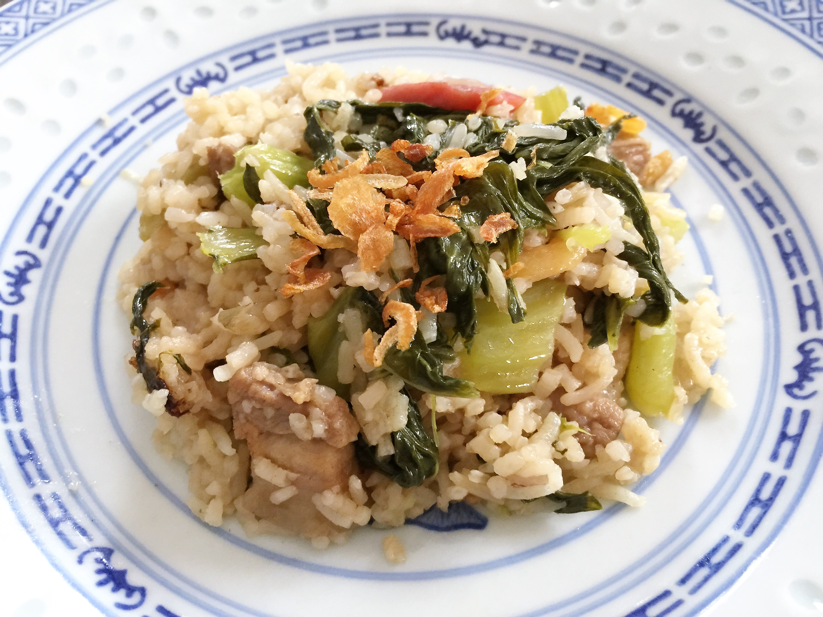 Chinese Mixed Rice with Mustard Greens