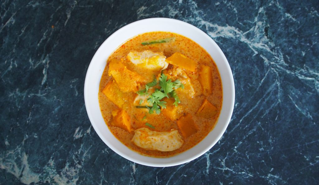 Thai Pumpkin & Chicken curry