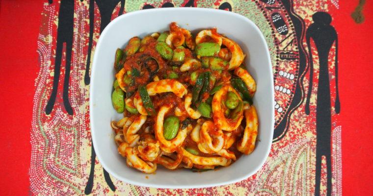 Anita's Sambal Petai Sotong (Spicy Stink Beans & Squid)