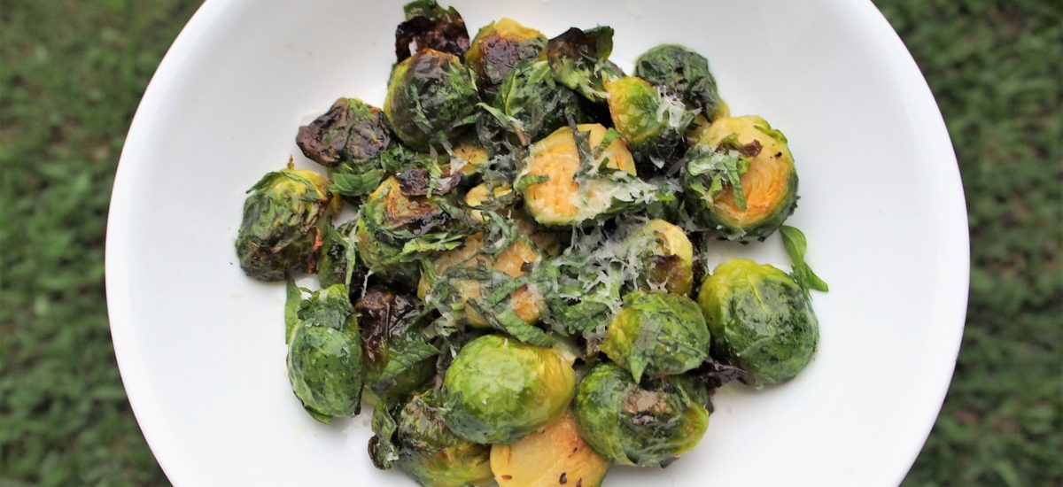 Roasted Brussels Sprouts with Honey & Mint